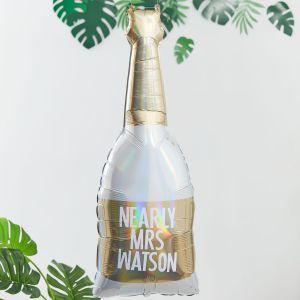 Ginger Ray BS-430 Botanical Hen Folienballon Champagnerflasche