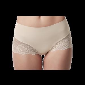 Poirier 15-925 Mid Waist Lace Short Nude