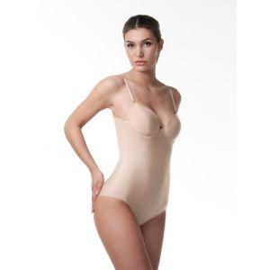 Poirier 17-100 tief ausgeschnittener Body Nude