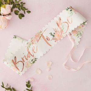 Ginger Ray FH-207 Floral Hen Bride To Be Schärpe