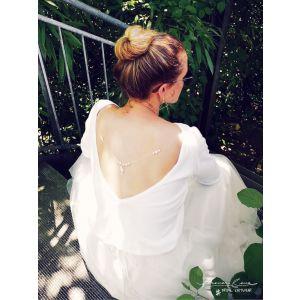 Brautpullover mit Rückenausschnitt P5303 Forever & Eva