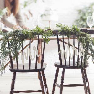 Mrs & Mrs Chair Signs - Beautiful Botanics BB-234 | Ginger Ray