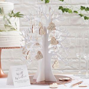 Wunschbaum mit Herzchen aus Holz – Beautiful Botanics