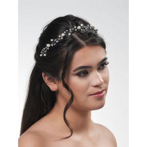 Isabelle | Luxuriöse Tiara mit Perlen - Poirier BB-720