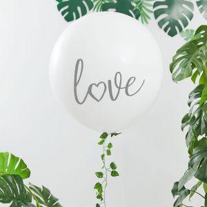 Ginger Ray BS-411 Botanical Hen Mega Ballon Love