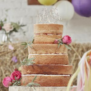 """Cake Topper aus Holz """"Best Day Ever"""""""