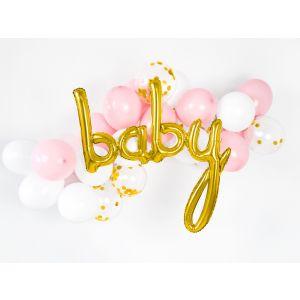 Folienballon Baby Gold