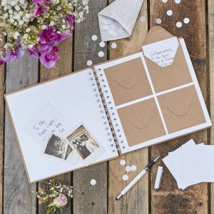 Gästebuch mit Umschlägen | Rustic Country
