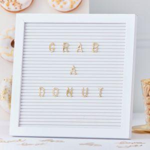 Letterbord gouden Buchstaben | Ginger Ray Gold Wedding