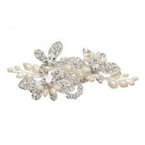 Lilly Haarspange mit Perlen und Strass (03-394-SV-0)