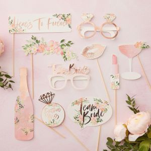 Ginger Ray FH-210 Floral Hen Photobooth Requisiten