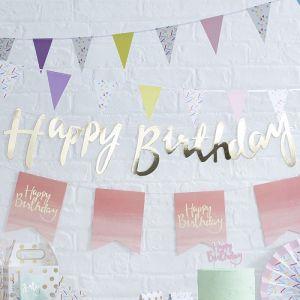 Gold Happy Birthday Girlande| Pick & Mix