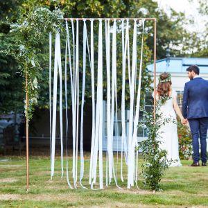 Ginger Ray BR-303 Botanical Wedding Weißer Bandhintergrund