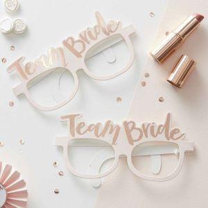 Rosafarbenen Brillen - Team Bride