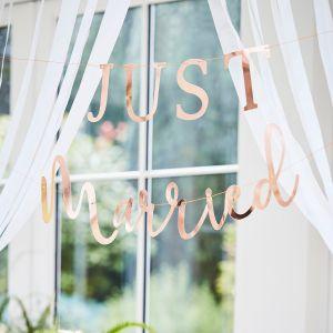 Ginger Ray BR-350 Botanical Wedding Just Married Girlande