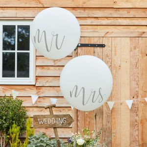 Ginger Ray CW-218 Rustic Country Mr & Mrs Mega Ballons