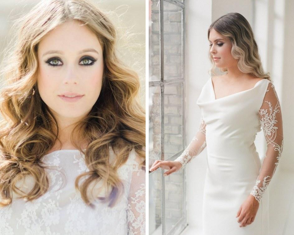 Brautfrisuren blonde lange Haare