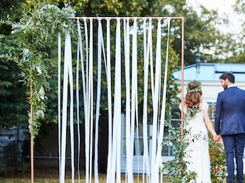 Ginger Ray BR-349 Botanical Wedding Roségold Rahmen Hintergrund